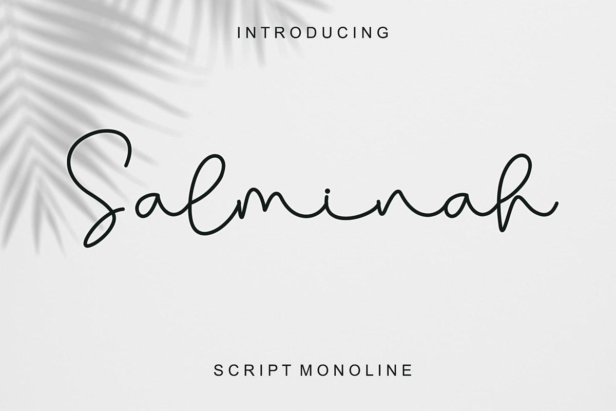 Free Salminah Script Font