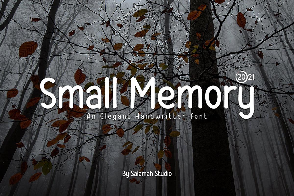 Free Small Memory Handwritten Font