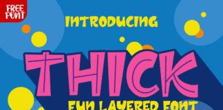 Free Thick Fun Layered Font