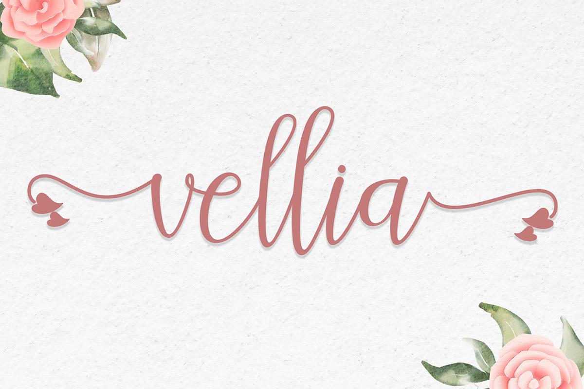 Free Vellia Calligraphy Font