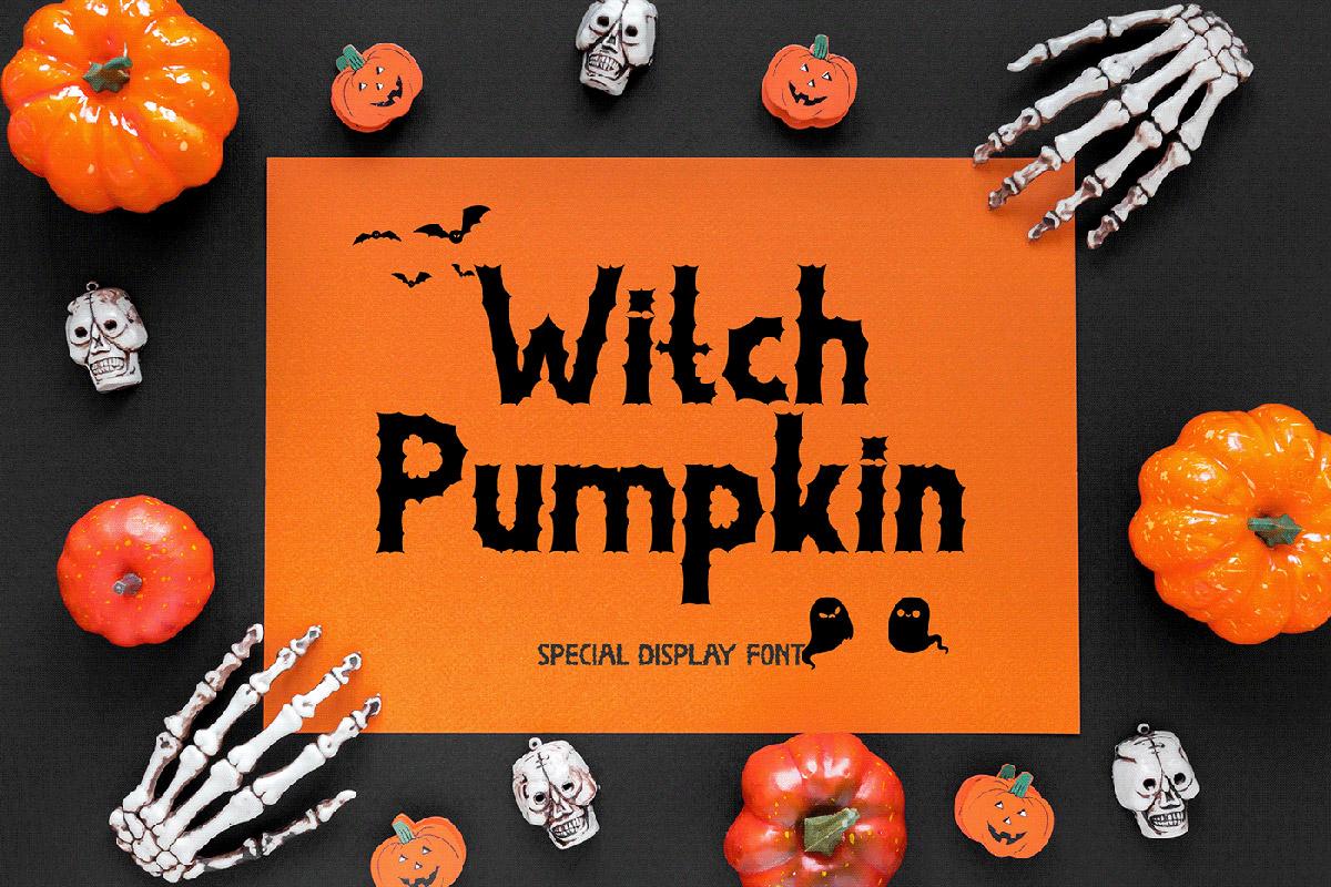 Free Witch Pumpkin Display Font