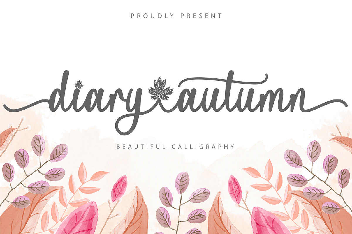 Diary Autumn Calligraphy Font