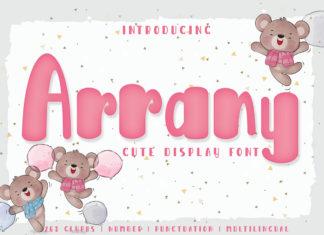 Free Arrany Display Font
