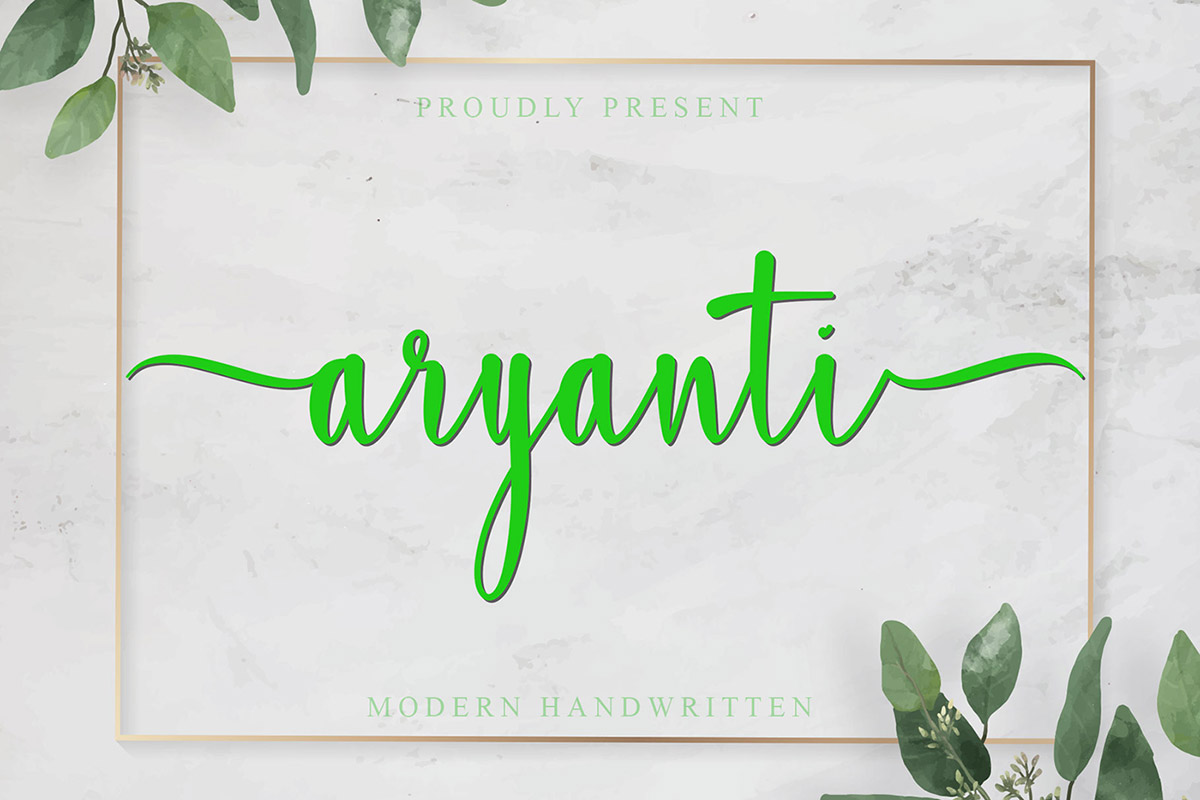 Free Aryanti Script Font