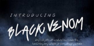 Free Black Venom Handwritten Font