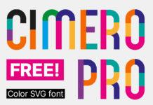 Free Cimero Pro Color SVG Font