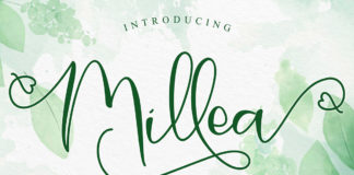 Free Millea Diary Calligraphy Font