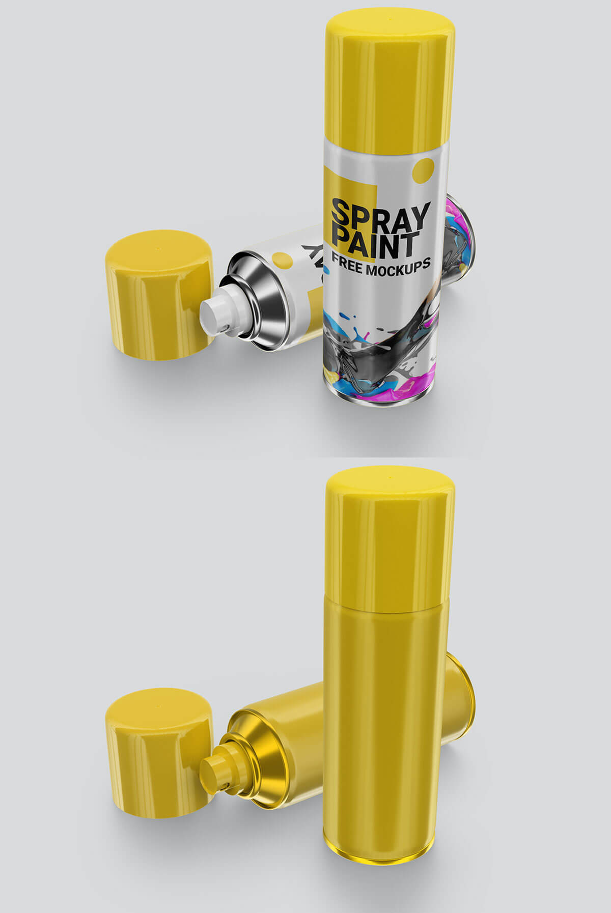 Free Paint Spray Can Mockup