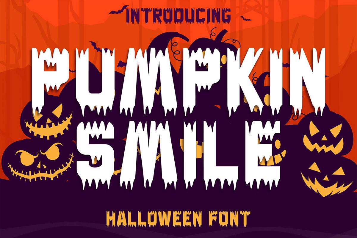 Pumpkin Smile Decorative Font