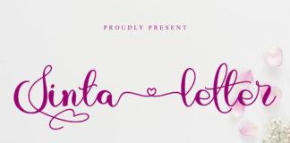 Free Sinta Letter Script Font