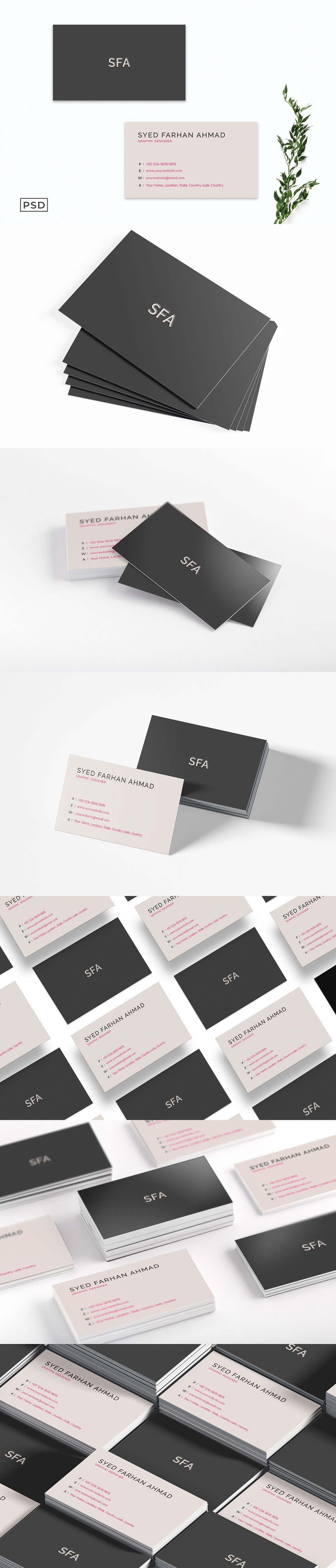 Free Sober Business Card Template V5