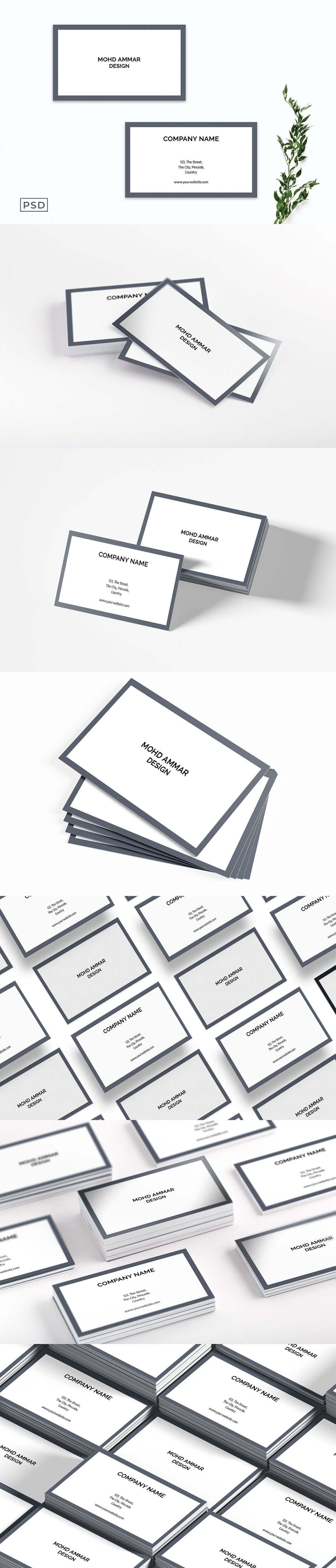 Free Sober Minimalist Business Card Template V2