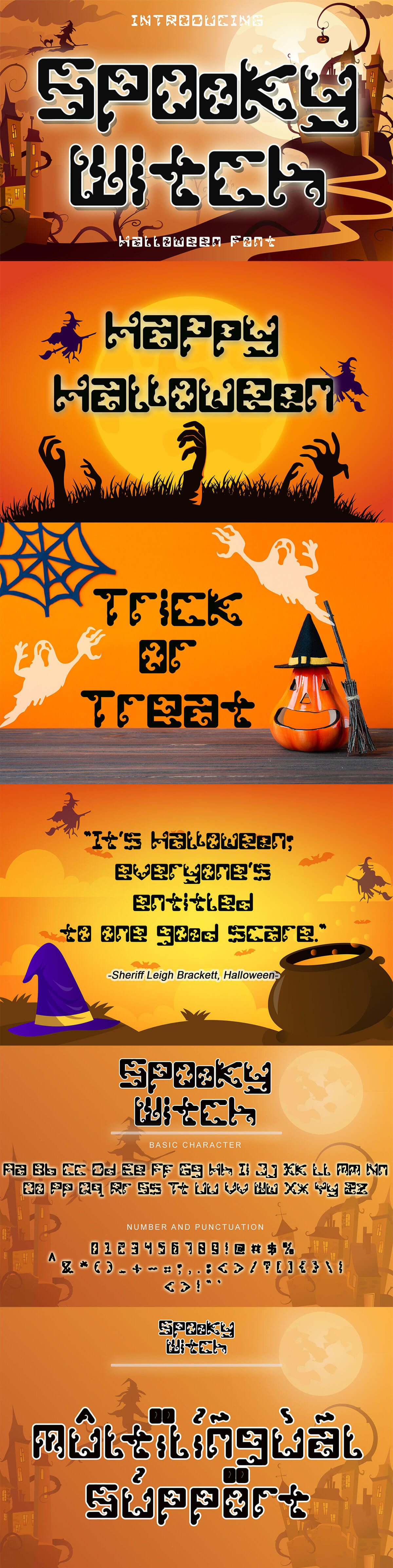Free Spooky Witch Halloween Font