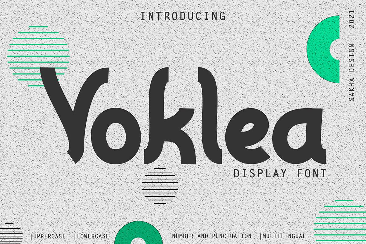 Free Voklea Display Font