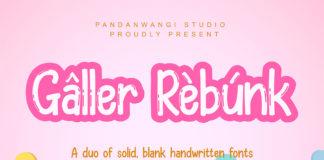 Galler Rebunk Display Font