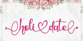 Holidate Calligraphy Font