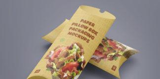 Paper Pillow Box Packaging Mockup