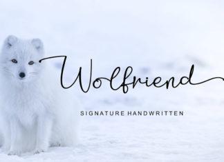 Wolfriend Signature Handwritten Font