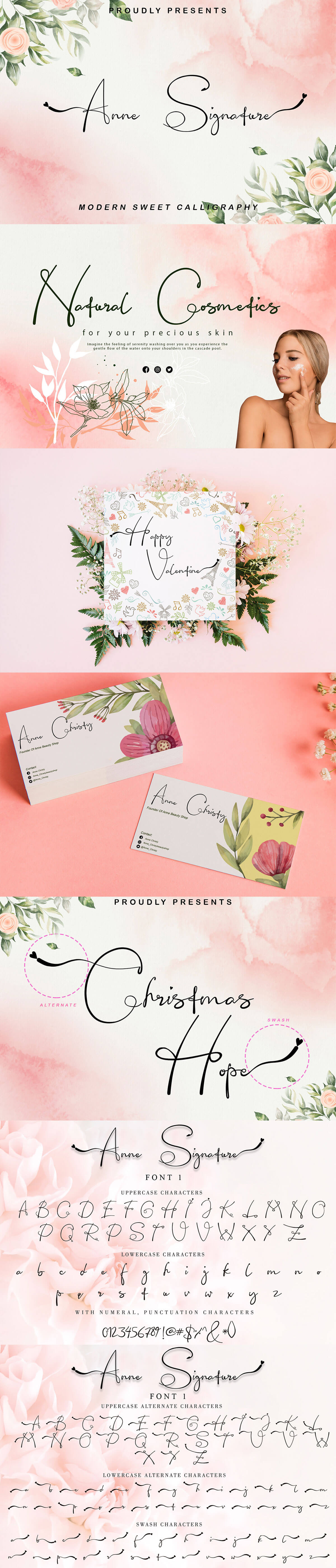 Anne Signature Calligraphy Font