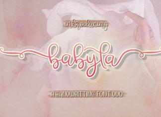 Babyla Handwritten Font Duo