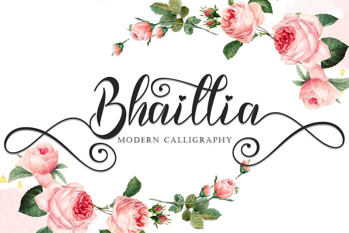 Bhaillia Calligraphy Font