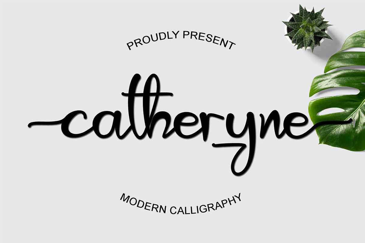 Catheryne Calligraphy Font