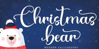 Christmas Bear Calligraphy Font