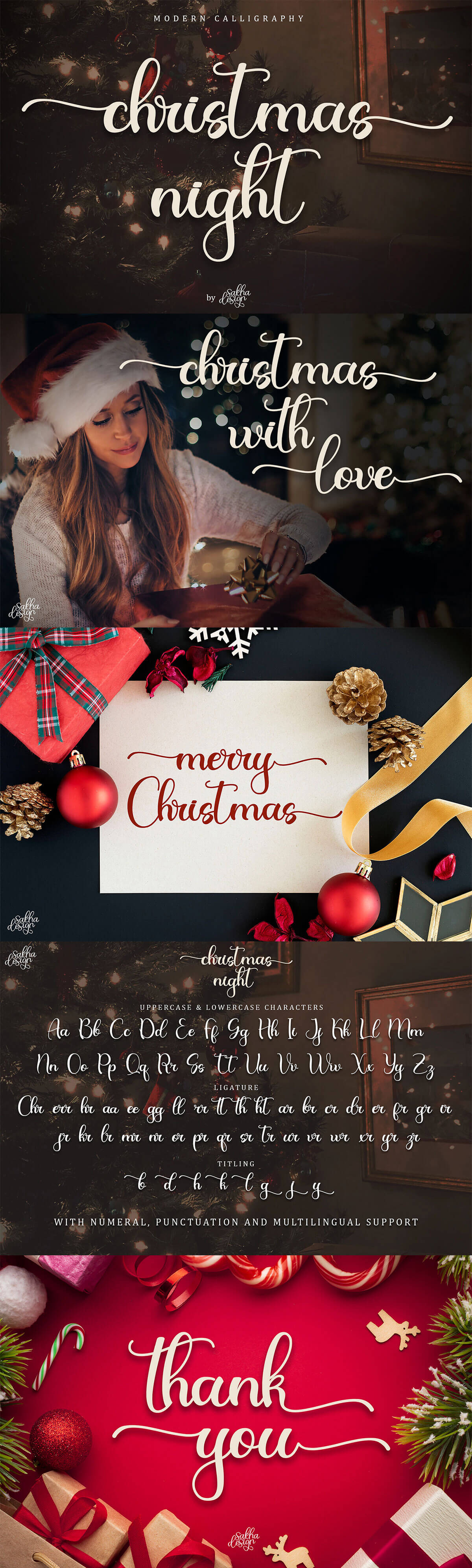 Christmas Night Calligraphy Font