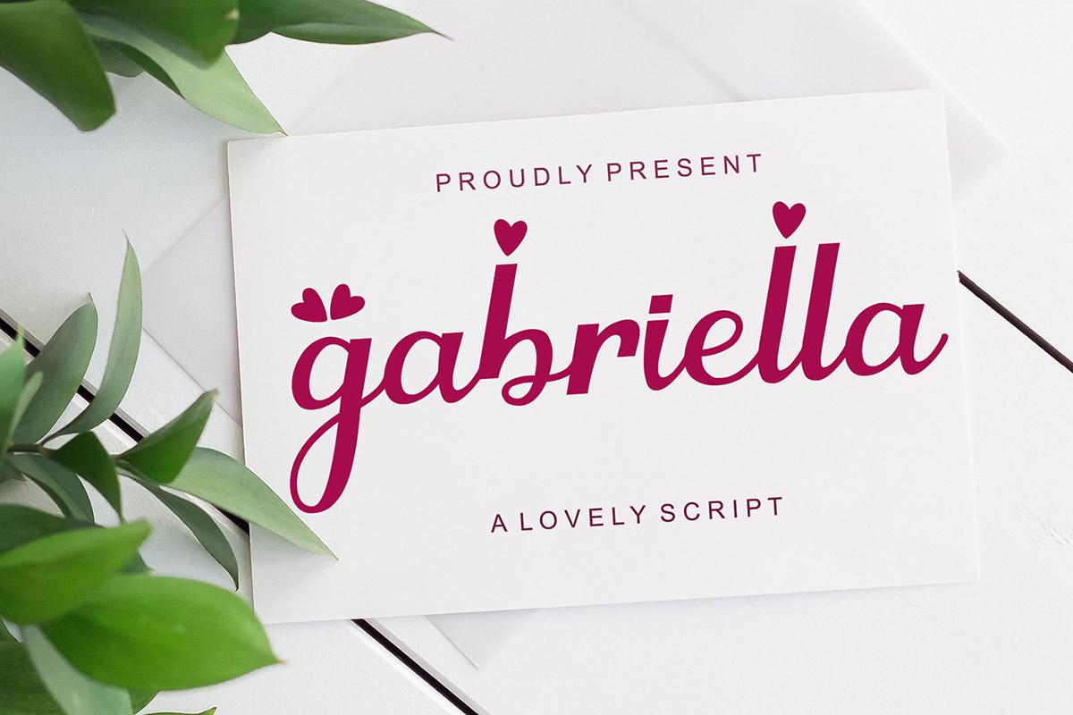 Gabriella Script Font