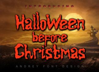 Halloween Before Christmas Handwritten Font
