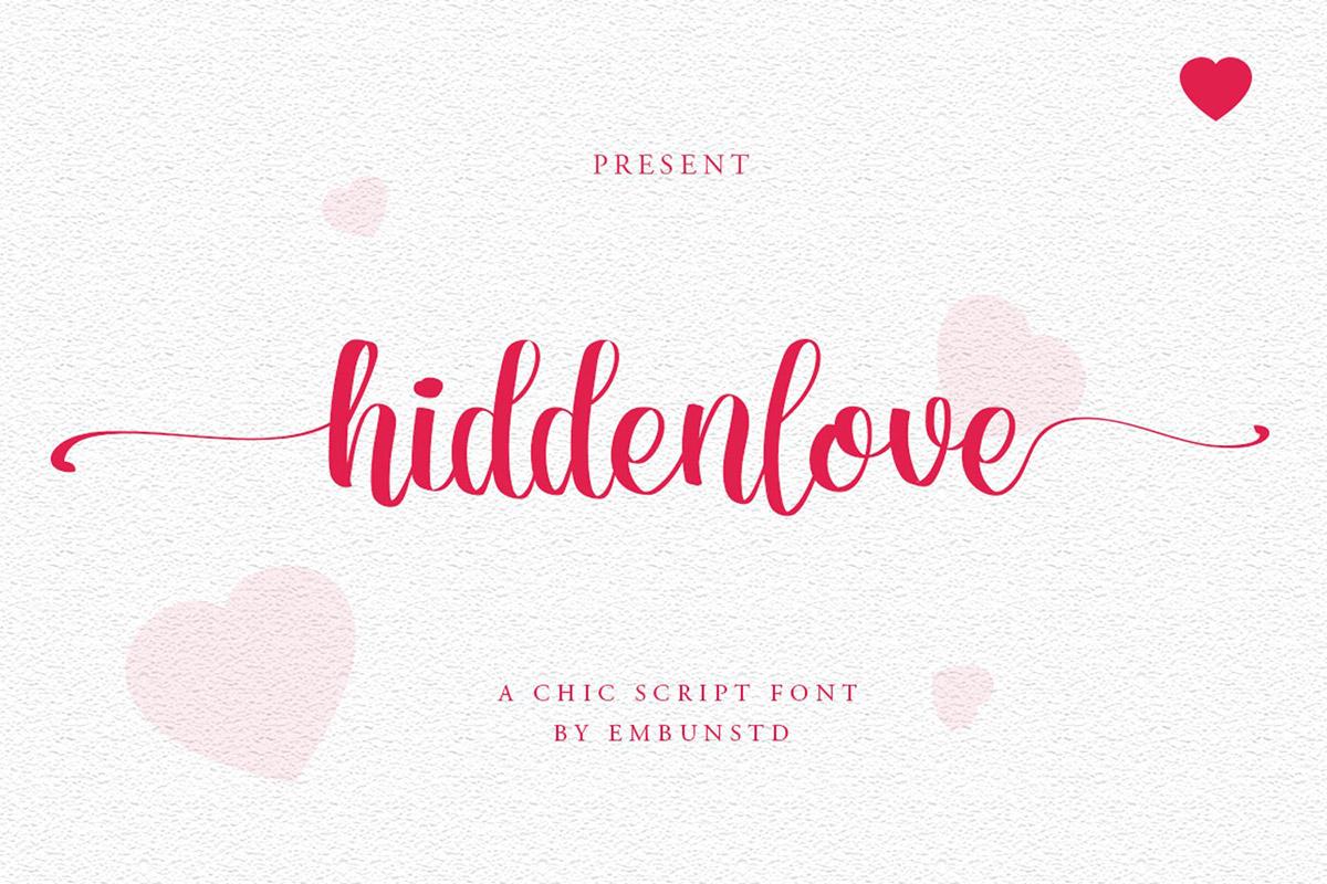 Hiddenlove Script Font