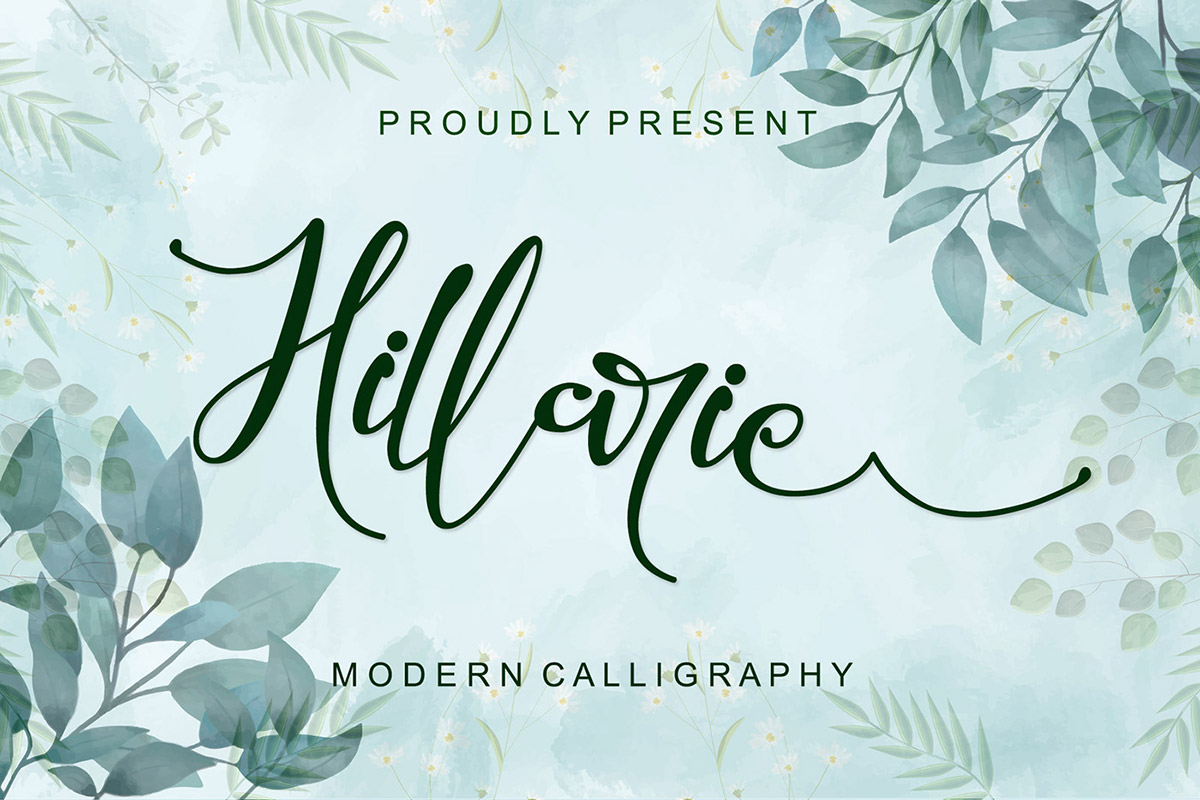 Hillarie Calligraphy Font