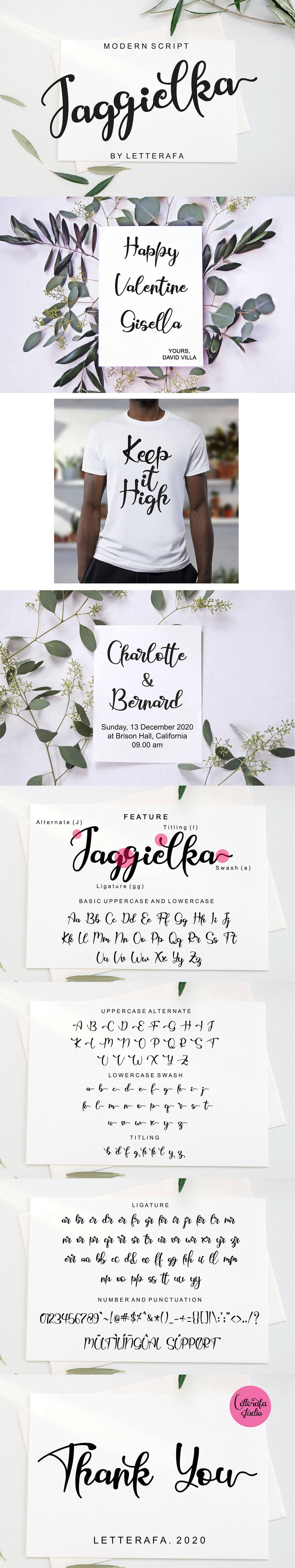 Jaggielka Calligraphy Font
