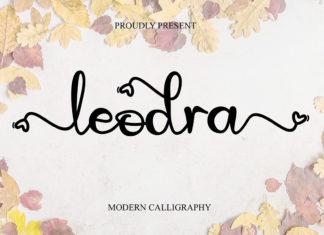 Leodra Calligraphy Font