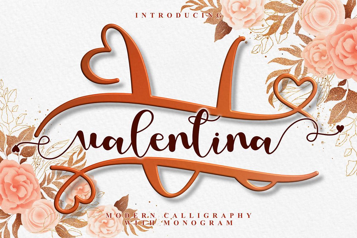 Love Valentina Calligraphy Font