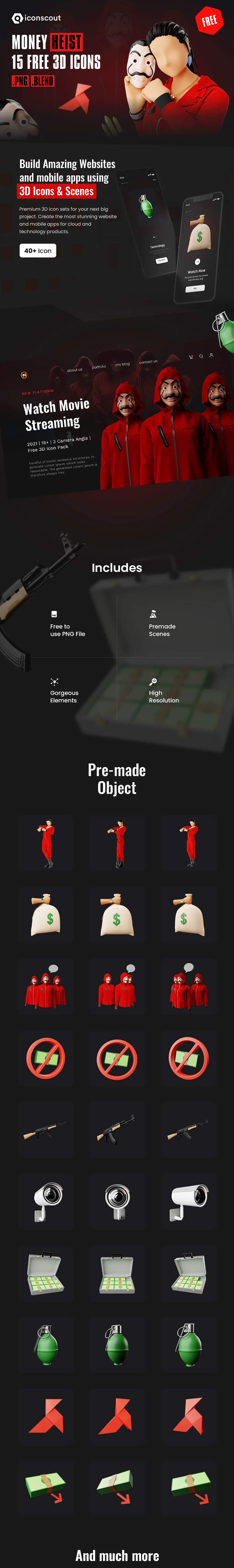 Money Heist 3D Illustration Pack