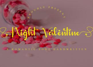 Night Valentine Handwritten Font