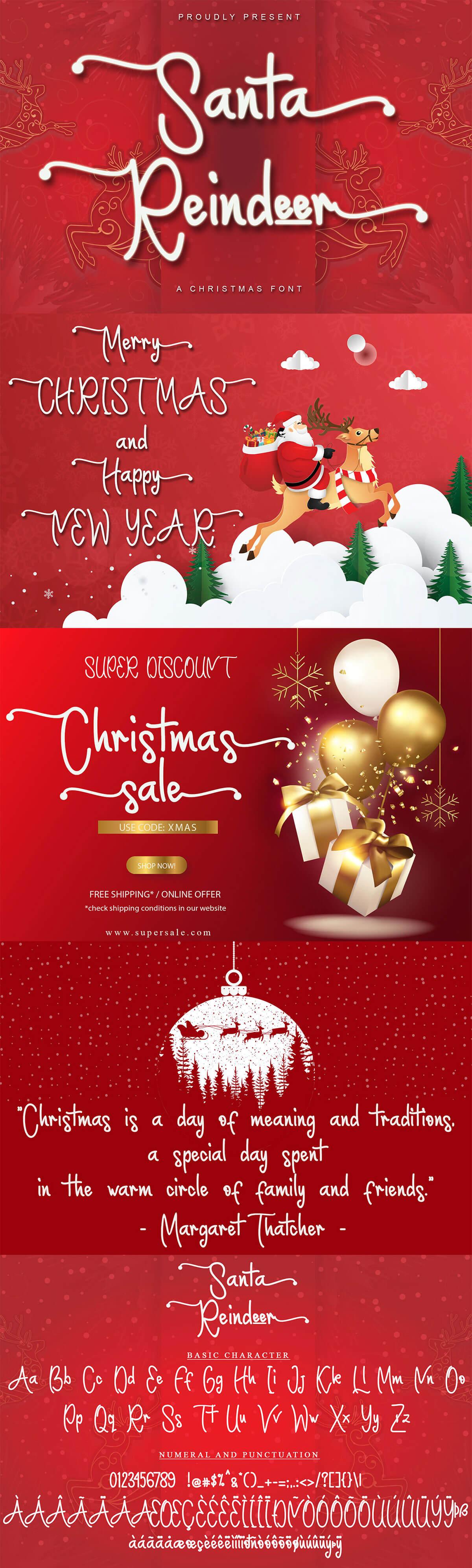 Santa Reindeer Script Font