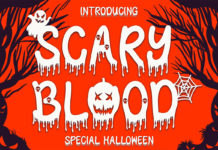Scary Blood Decorative Font