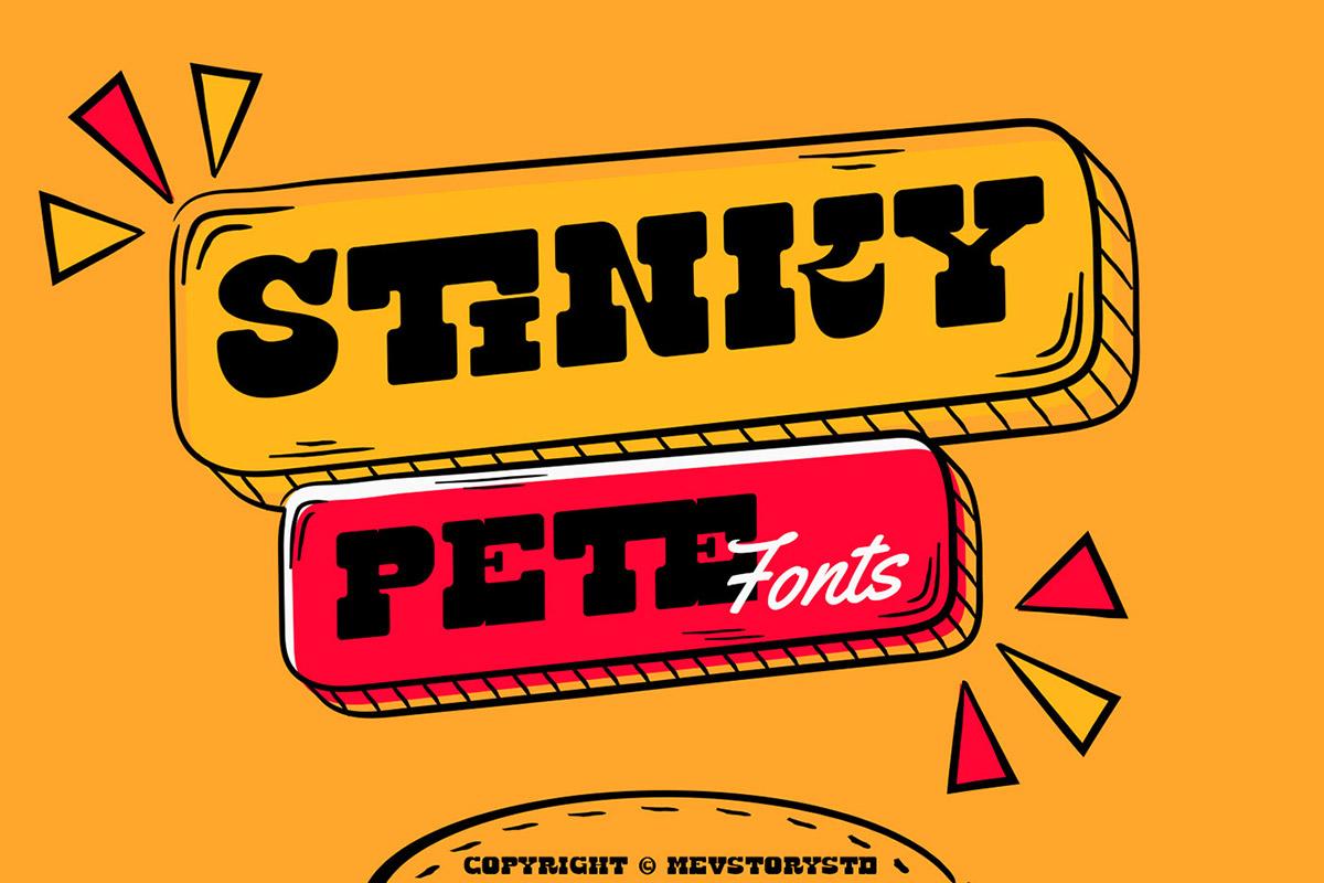 Stinky Pete Display Font