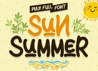 Sun Summer Playful Font