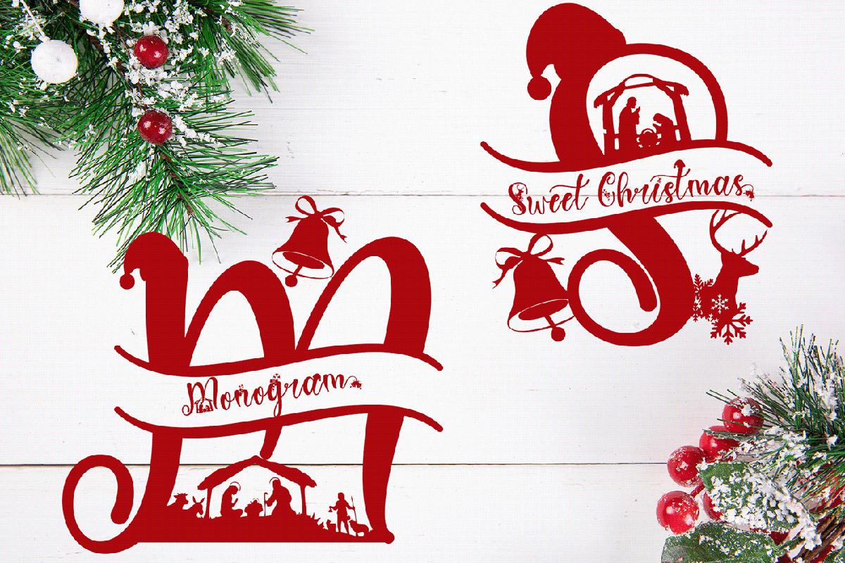 Sweet Christmas Monogram Script Font