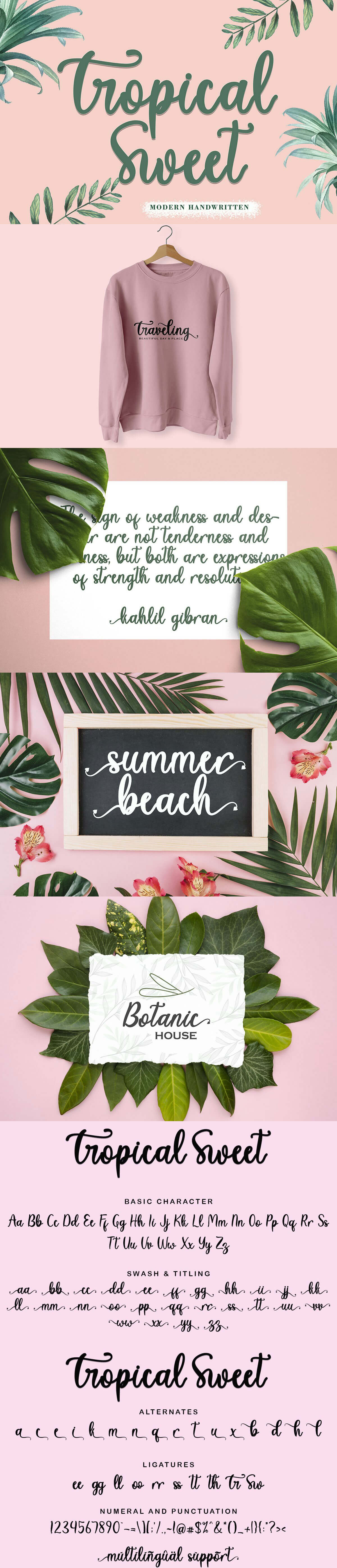 Tropical Sweet Calligraphy Font