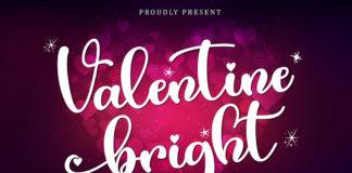 Valentine Bright Calligraphy Font