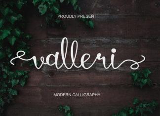 Valleri Calligraphy Font