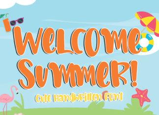 Welcome Summer Handwritten Font