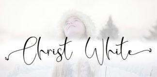 Christ White Handwritten Font