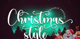 Christmas Style Calligraphy Font