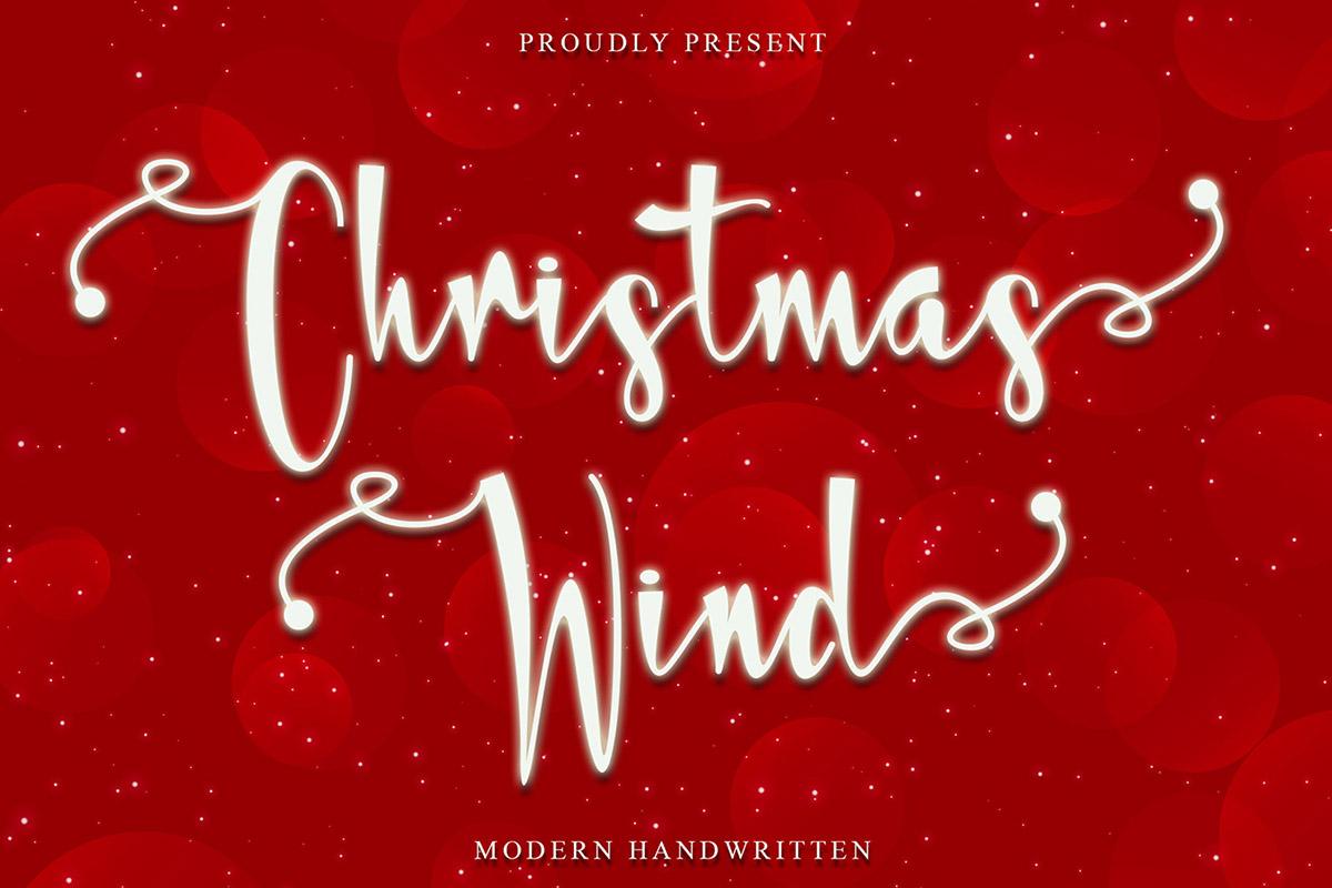 Christmas Wind Handwritten Font