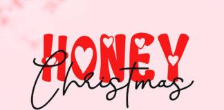 Honey Christmas Display Font